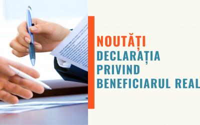 Noutăți legislative: Declarația privind beneficiarul real